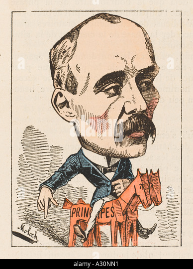 G Clemenceau Moloch 1882 - Stock Image