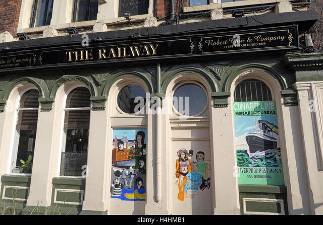 The Railway,Robert Cain pub,Tithebarn St,Liverpool,England,UK - Stock Image