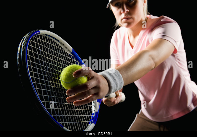 Tennis player - Stock Image