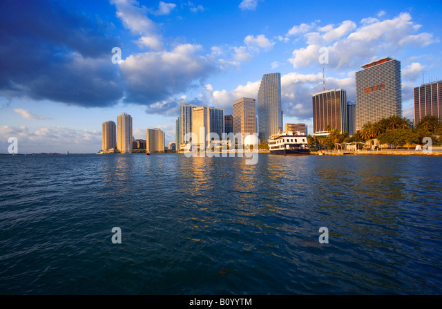Miami skyline, Miami Florida, USA - Stock Image