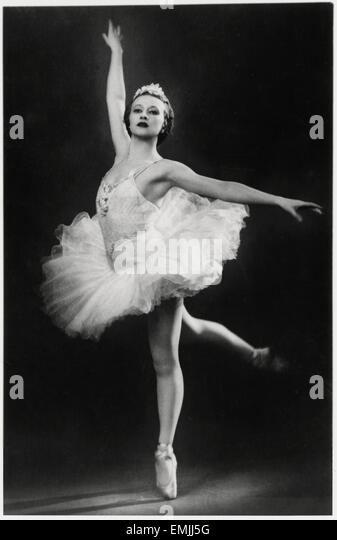 Galina Ulanova, Russian Ballet Dancer, Portrait, circa 1940's - Stock Image