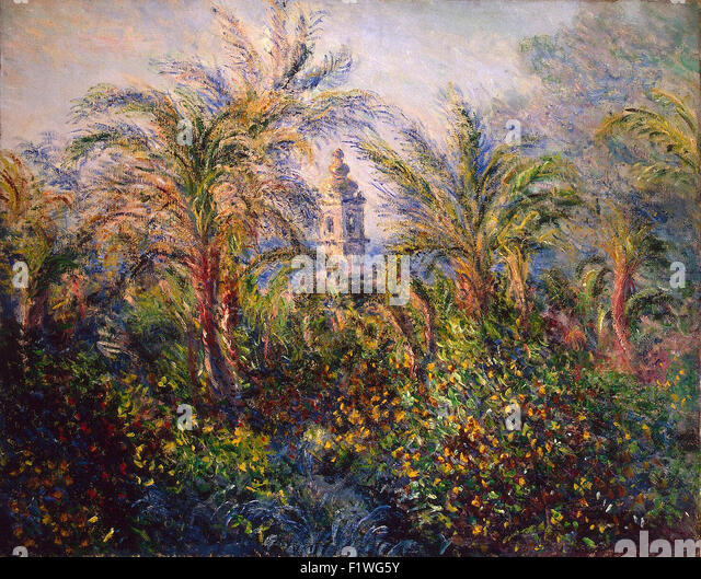 Claude Monet - Garden in Bordighera, Impression of Morning - Stock Image