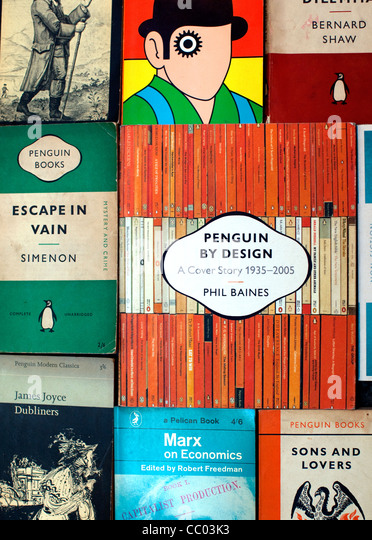 Penguin Book Cover Images : Classic penguin book covers stock photos