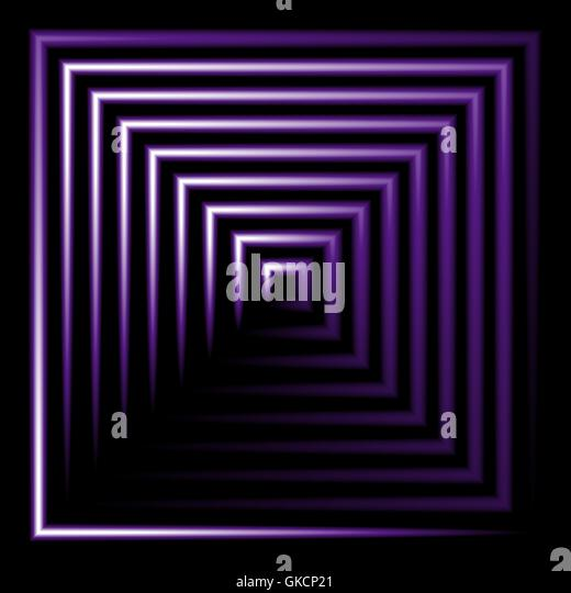 Purple neon square vector background - Stock Image