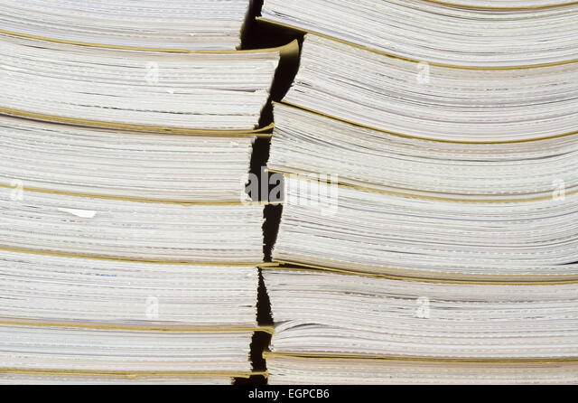 Archival background - a pile of archival documents - Stock Image
