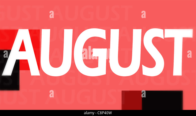Creative image of August concept - Stock Image