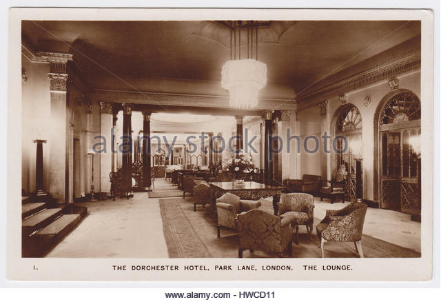 The Dorchester Hotel, London, United Kingdom, The Lounge - Stock Image
