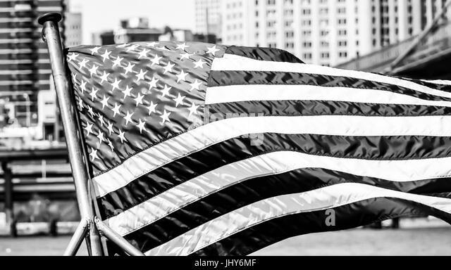 United States Flag Black and White Stock Photos & Images ...