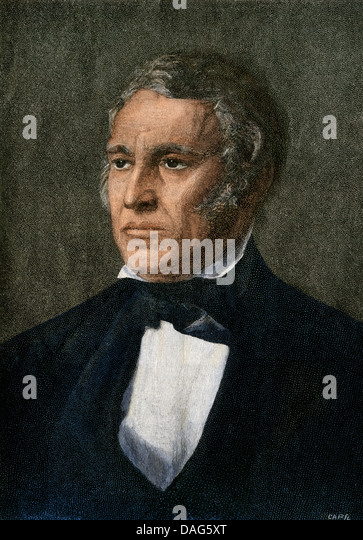 US President Zachary Taylor. - Stock-Bilder
