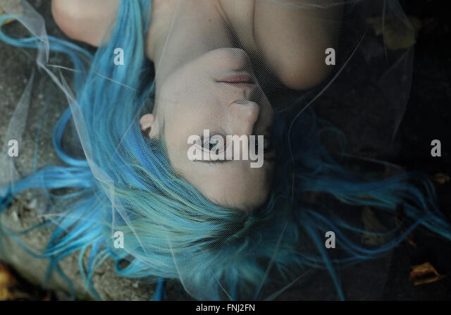 Sad mermaid portrait - Stock-Bilder