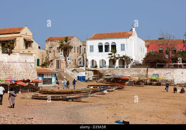 Ile de Goree, Senegal, Africa - Stock Image