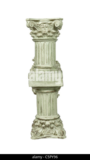 Supporting pillar of stone for supporting heavy beams - path included - Stock Image
