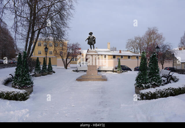 Statue of King Gustavus Adolphus of Sweden in Tartu, Estonia Estland Europe EU - Stock Image