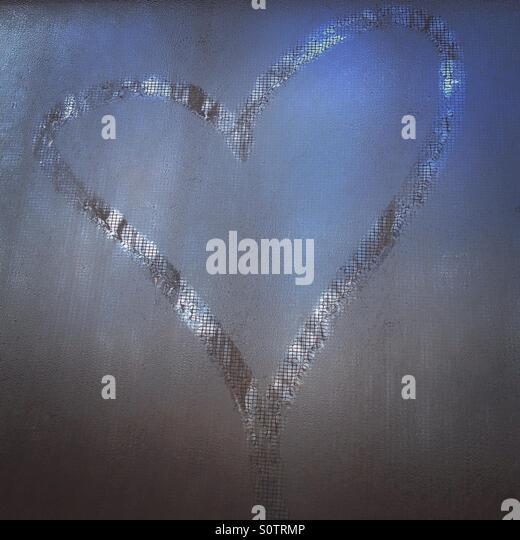 Steam heart - Stock Image