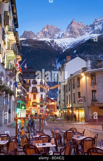 Chamonix Mont Blanc French Alps Haute Savoie Chamonix France - Stock Image