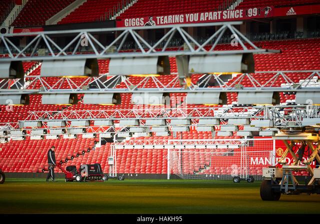 Football stadium groundsman grass stock photos football for Gardening jobs manchester
