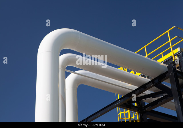 Oil and gas station - Stock Image