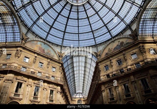 Galleria Vittorio Emanuele II, Milan - Stock Image