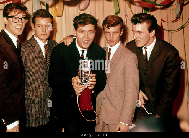 CLIFF RICHARD AND THE SHADOWS in 1961 - from l: Hank Marvin, Brian Bennett, Cliff, Jet Harris and Bruce Welch - Stock Image
