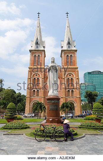 Notre Dame Catholic Cathedral, Ho Ci Minh City, Vietnam - Stock-Bilder