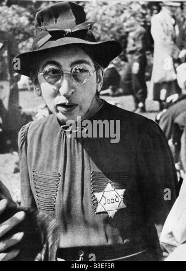 Dutch Jew wearing Star of David / c.1942 - Stock Image