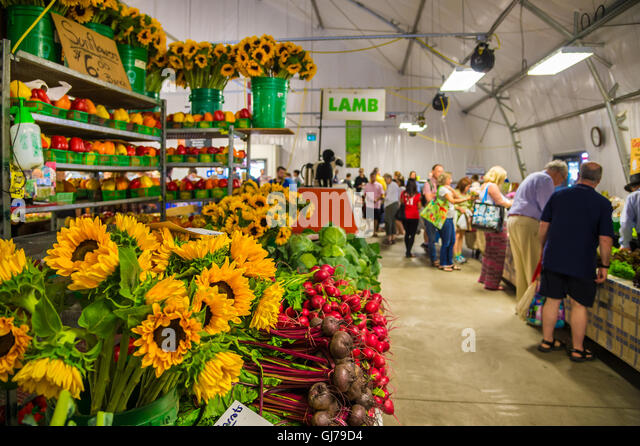 Toronto, CA - 2 July 2016: Inside St Lawrence Market, Toronto, Ontario, Canada - Stock Image