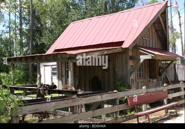 Replica of a Florida Cracker farm house from the 1800's. - Stock-Bilder