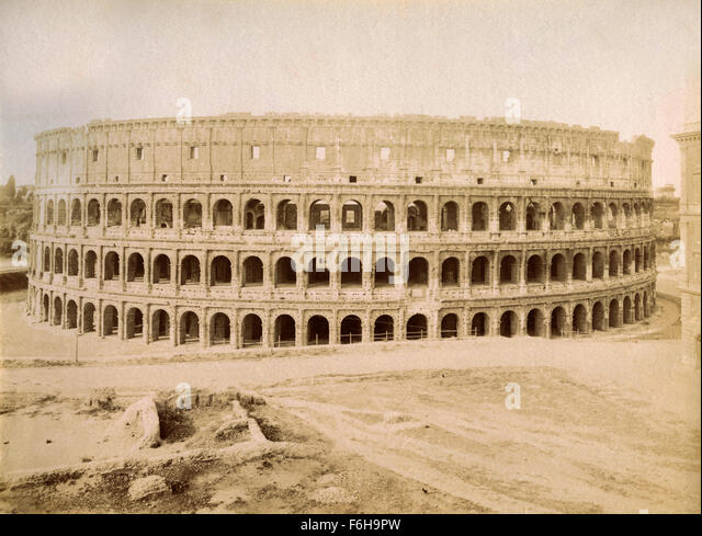 Flavian Amphitheater, called the Colosseum, Rome, Italy - Stock Image