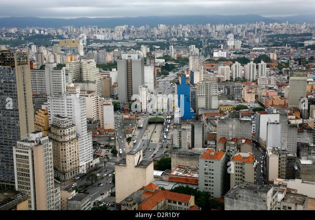 Skyline of Sao Paulo, Brazil, South America - Stock Image