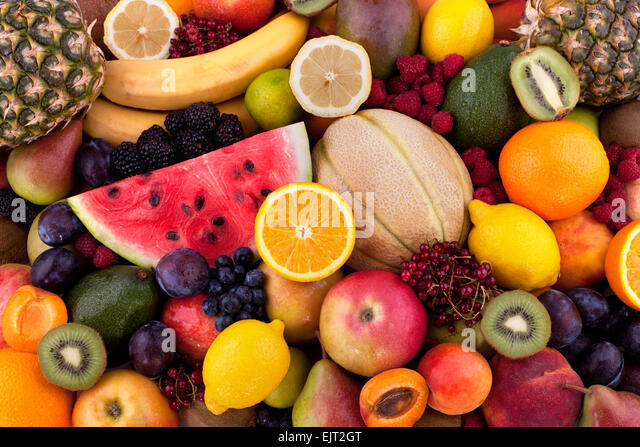 Fruits and berries - Stock Image