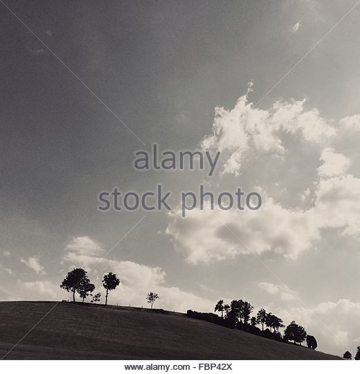 Scenic View Of Landscape Against Sky - Stock Image
