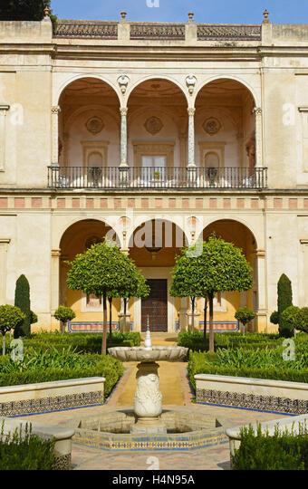 La Casa de Pilatos (Pilate's House) Seville Andalucia, Spain - Stock Image