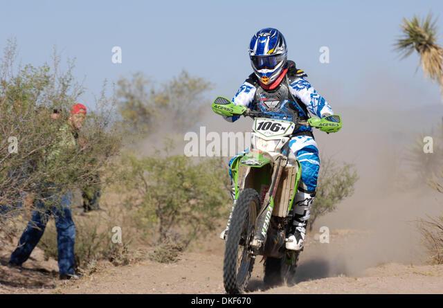 Jun 06, 2009 - Valle de la Trinidad, Baja Norte, Mexico - SHANE ESPOSITO, winner of Class 21 (125 to 250cc Pro motorcycles), - Stock Image