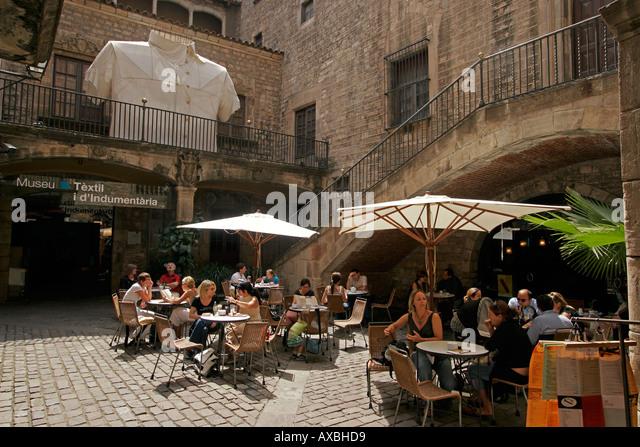 spain Barcelona Ribera museu Textil i díndumentaria - Stock Image