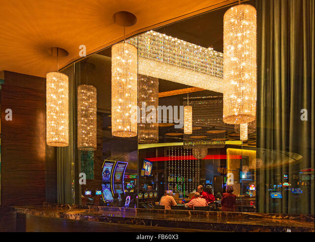 People gambling in the casino area of Red Rock Casino Resort & Spa. Las Vegas, Nevada, USA - Stock Image