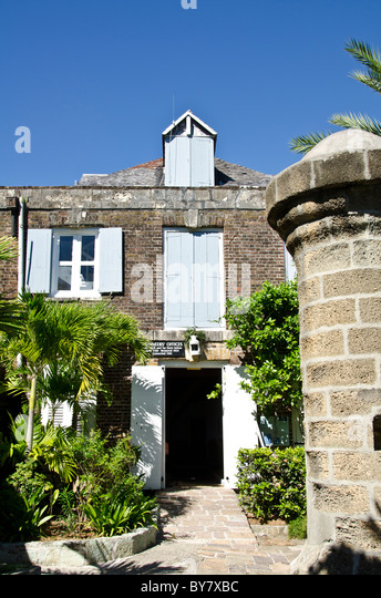 Admiral's Inn Hotel at Nelsons Dockyard National Park at English Harbour Antigua - Stock Image