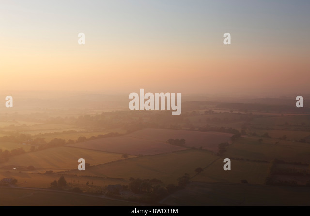 Sunset over Sussex from South Downs; England, Great Britain - Stock-Bilder