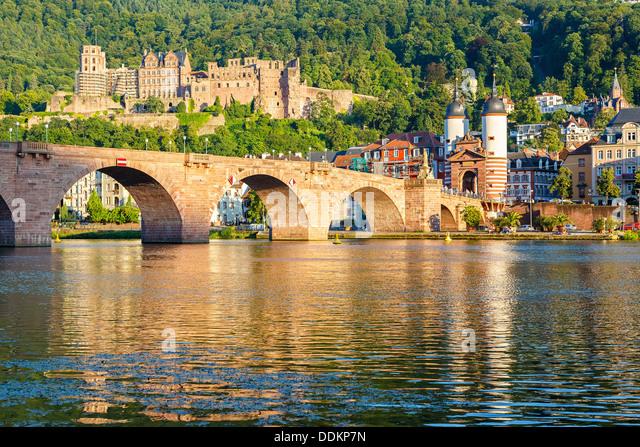 Bridge in Heidelberg - Stock Image