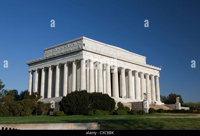 The Lincoln Memorial, Washington D.C., United States of America, North America - Stock Image