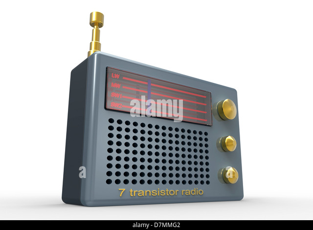 Radio, artwork - Stock Image
