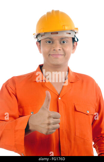 Labour showing thumb MR#782W - Stock Image