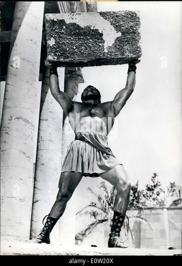 Dec. 12, 1960 - That's Nothing: for Hercules, the hero of the Greek myth whose adventures are now shown in an - Stock Image