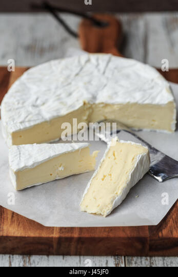 Camembert Cheese - Stock Image
