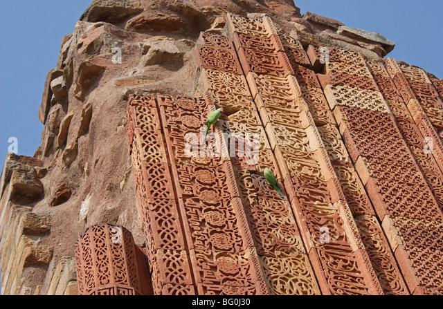 Artistic patterns on the Building near Qutb Minar - Stock-Bilder