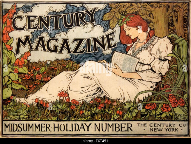 1890s USA The Century Magazine Advert - Stock Image