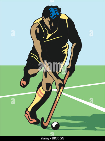 A man playing field hockey - Stock-Bilder