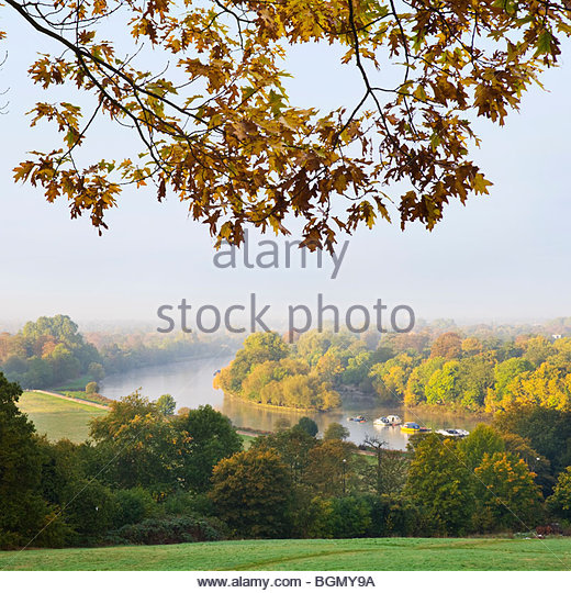 The river Thames from Richmond Hill, Surrey. - Stock-Bilder