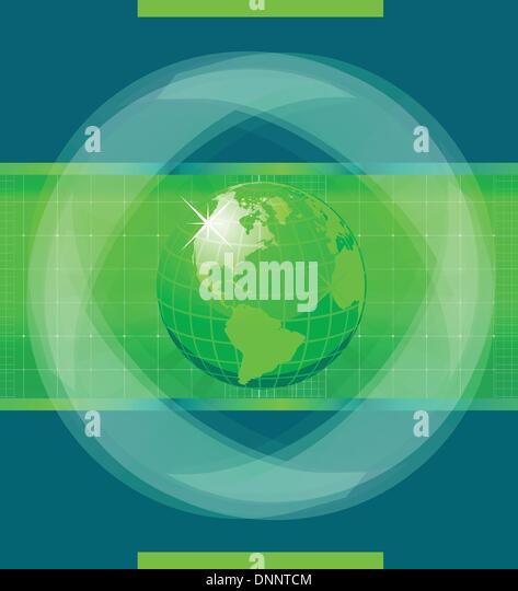 Green World globe - Stock-Bilder