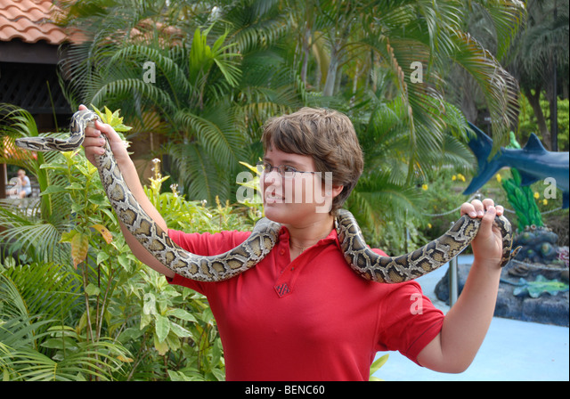 Question similar Burmese python with nude girl was and