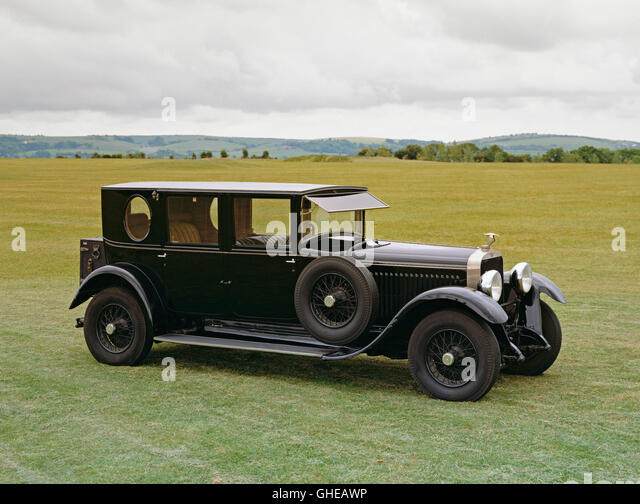 1927 Hispano Suiza H6B 4 door limosine coachwork by Kellner Country of origin Spain - Stock Image